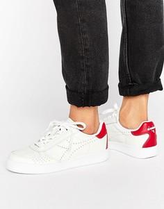 Красно-белые кроссовки Diadora B. Elite Premium - Белый