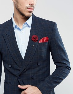 Булавка на лацкан и платок для нагрудного кармана Devils Advocate Sherry - Красный