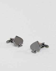 Серебристые запонки ASOS - Серебряный