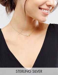 Ожерелье Cancer из позолоченного серебра ASOS - Медный