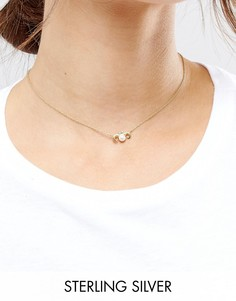 Ожерелье из позолоченного серебра с подвеской Телец ASOS - Медный