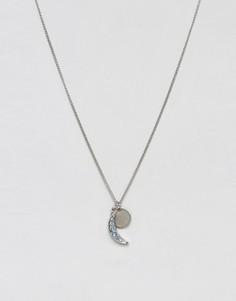 Ожерелье с подвеской в форме полумесяца Pieces - Золотой