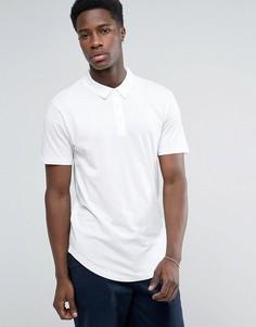 Трикотажная футболка-поло с закругленным низом Troy - Белый