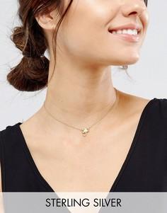 Ожерелье Скорпион из позолоченного серебра ASOS - Медный