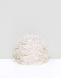 Мягкий клатч с цветами ASOS WEDDING - Кремовый