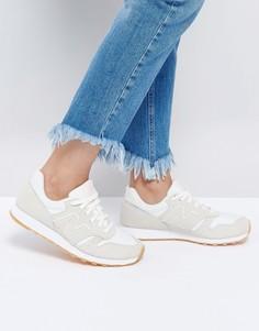 Кремовые кроссовки New Balance 373 - Кремовый