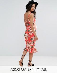 55aea469231 Купить женские платья и сарафаны для беременных с оборками в ...