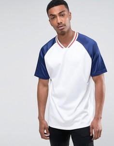 Сетчатая oversize-футболка с контрастными рукавами ASOS - Белый