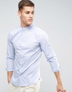 Приталенная рубашка в полоску Jack & Jones Premium - Синий