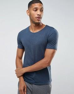 Меланжевая футболка Jack & Jones Premium - Темно-синий
