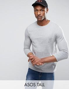 Серая футболка с рукавами 3/4 ASOS TALL - Серый