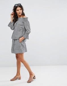 Мини-юбка в клетку Vero Moda - Мульти