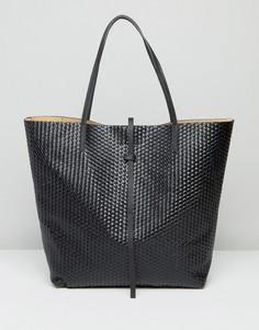 Черная тканая сумка-тоут Glamorous - Черный