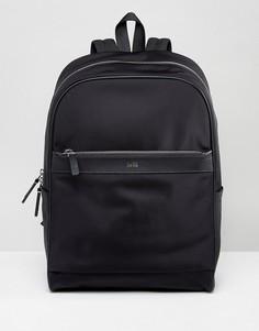 Черный рюкзак с кожаной отделкой HUGO by Hugo Boss - Черный