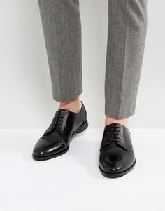 Черные кожаные туфли на шнуровке HUGO by Hugo Boss - Черный