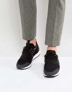 Черные замшевые кроссовки с эластичной отделкой HUGO by Hugo Boss - Черный