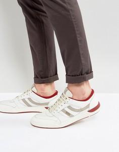 Красные кожаные кроссовки BOSS Orange by Hugo Boss - Белый