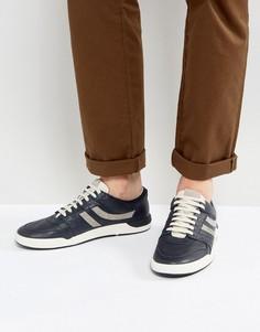 Темно-синие кожаные кроссовки BOSS Orange by Hugo Boss - Темно-синий