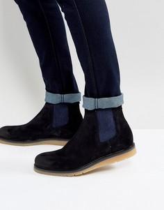 Темно-синие замшевые ботинки челси BOSS Orange by Hugo Boss - Темно-синий