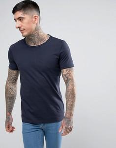 Базовая темно-синяя футболка с круглым вырезом BOSS Orange by Hugo Boss - Темно-синий