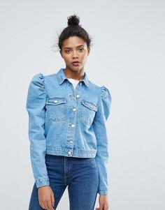 Укороченная свободная джинсовая куртка Chorus - Синий