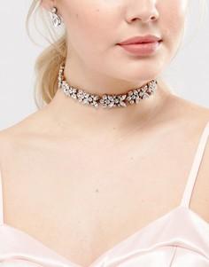 Ожерелье-чокер с кристаллами Her Curious Nature Bridal - Серебряный