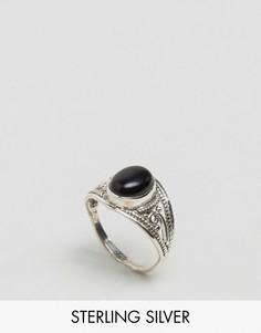 Кольцо с черным ониксом Jo Bali By Kingsley Ryan - Серебряный