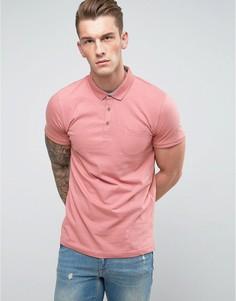 Футболка-поло с карманом Brave Soul - Розовый