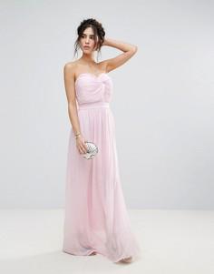 Платье макси с декоративным узлом Club L - Розовый