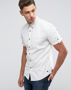 Хлопковая рубашка с короткими рукавами Esprit - Белый