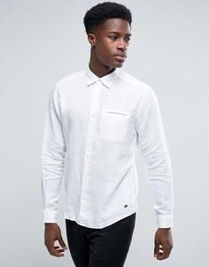Льняная рубашка с карманом на груди Esprit - Белый