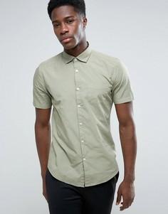 Хлопковая рубашка с коротким рукавом Esprit - Зеленый