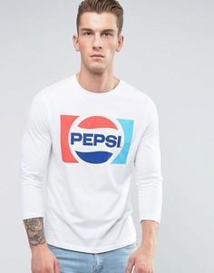 Футболка с рукавами 3/4 и принтом Pepsi ASOS - Белый
