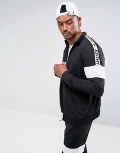 Черная спортивная куртка с отделкой лентой Hype - Черный