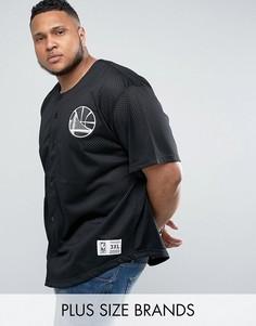 Сетчатая футболка Golden State Warriors NBA Mitchell & Ness PLUS - Черный