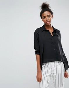 Блузка с удлиненной спинкой ASOS - Черный