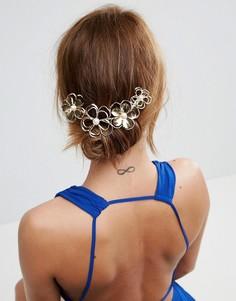 Заколка для волос с искусственным жемчугом ASOS - Золотой