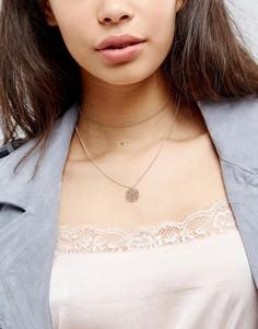 Многоярусное ожерелье‑чокер с филигранной подвеской ASOS - Мульти