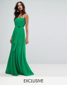 Плиссированное платье макси Bariano - Зеленый
