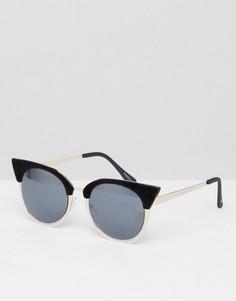 Черные солнцезащитные очки кошачий глаз Skinnydip - Черный