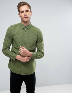 Рубашка цвета хаки в стиле милитари Jack Wills Bagley - Зеленый