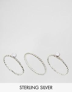 3 серебряных кольца Kingsley Ryan - Серебряный