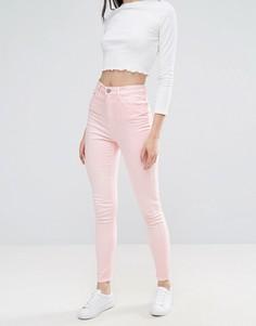 Розовые джинсы скинни с завышенной талией Waven Anika - Розовый