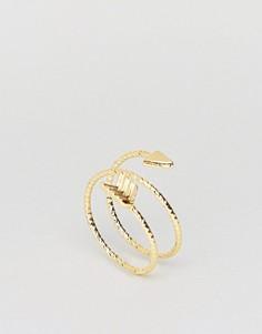 Тройное кольцо на мизинец ASOS - Золотой