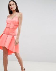 Платье мини с корсетом и заниженной талией ASOS PREMIUM - Оранжевый