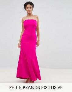 Платье макси бандо John Zack Petite - Розовый