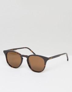Солнцезащитные очки в квадратной черепаховой оправе Komono The Beaumont - Коричневый