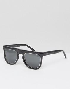 Черные солнцезащитные очки с прямым верхом Komono Bennet - Черный