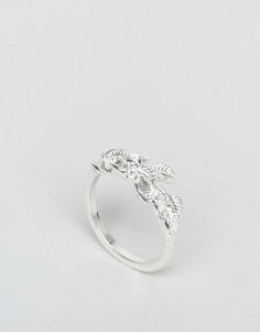 Кольцо с отделкой в виде виноградной лозы ASOS - Серебряный