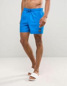 Однотонные шорты для плавания Hollister - Синий